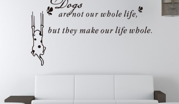 Free-Shipping-Cute-Dogs-Lettering-Quotes-Wall-Stickers-Pvc-Decor-Art-Removable-Home-Mural
